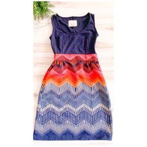 Anthropologie | Chevron Print Dress